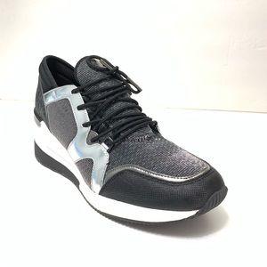 LIke NEW Michael Kors Liv Trainer Blk/sil sneaker
